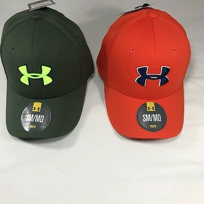 NWT Boy's Under Armour Youth Blitzing Stretch Fit Hat XS/S & S/M 1254660