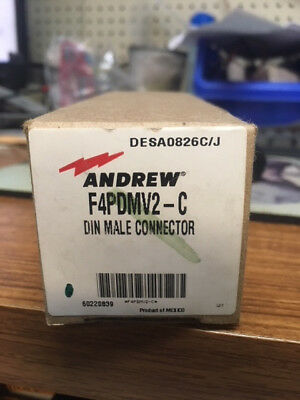 NEW Andrew F4PDMV2-C DIN Male Connector