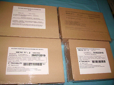 4 x France Ration Individuelle D´Exercice R.I.E. EPA France MHD 2018/19