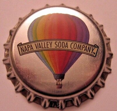 Napa Valley Soda Co. Soda Bottle Cap; Calistoga, Ca; Unused Plastic-Lined