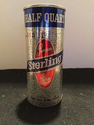 Sterling 16 Ounce Pull Top Beer Can..half Quart At Top!! Rare!! Evansnille In.!!