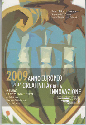 San Marino 2 Euro 2009 Kreativität & Innovation im Folder*
