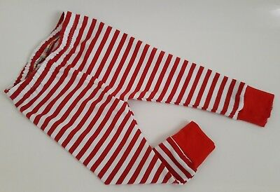 Handmade Christmas red and white stripe baby childs candy cane leggings