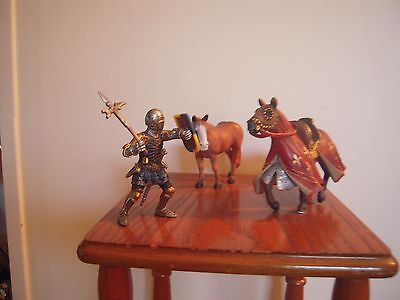 Schleich Mid-evil horse galloping knight soldier extra horse