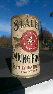 Staley's Baking Powder Tin Can NOS - Sealed Baltimore, MD - Rare - Hard to Find