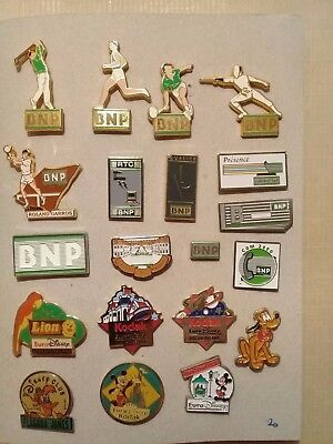 Lot de 20 pin's divers - BNP - Disney