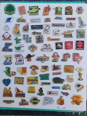Lot de 75 pin's publicitaires divers sans attaches - ( 75.025 )