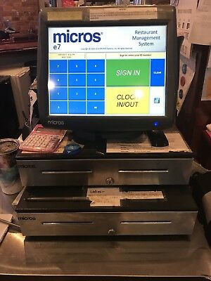 Micros E7 Workstation 5 System. 4 Front of house workstations, 1 back office har