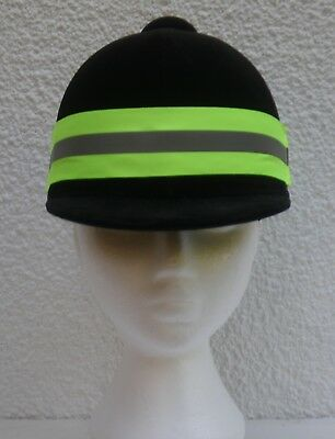 Fluorescent Yellow High Visibility Reflective Hat Band Horse Riding Cycling