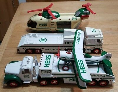 4 Vehicle Hess Lot Trucks Plane Helicopter