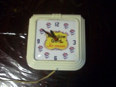 Nice Meadowgold Ice Cream clock, free shipping no reserve
