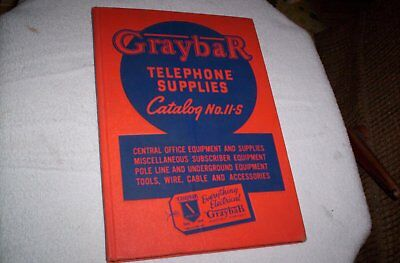 1947 Graybar Telephone Supplies Catalog 11S Payphones Wire Tools Switchboard Ins
