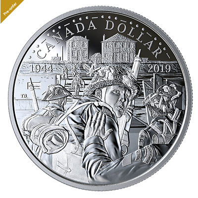 2019 0.9999 Proof Silver Dollar - The 75th Anniversary of D-Day No. 170515