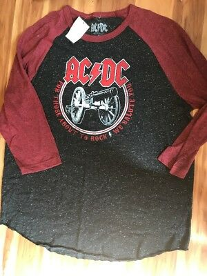 NWT AC/DC Band Those About To Rock Men's Raglan Shirt Size XL