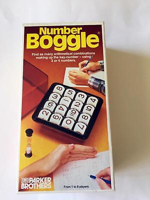 Vintage Number Boggle Game - 1980's - VGC - Parker Brothers - missing timer