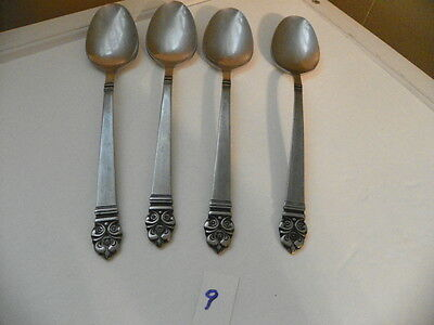 Set Of 4  Stanley Roberts  Highmont  Stainless  Oval Soup Spoons