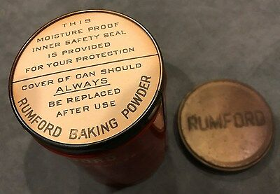 Rumford the Wholesome Baking Powder, Unopened, Sealed 12 Oz. Tin Can, 4 3/4 in.