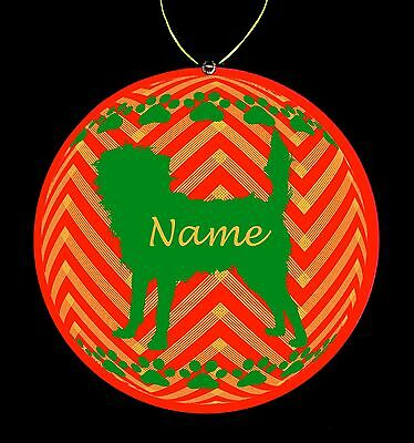 Affenpinscher Breed Personalized Christmas Ornament