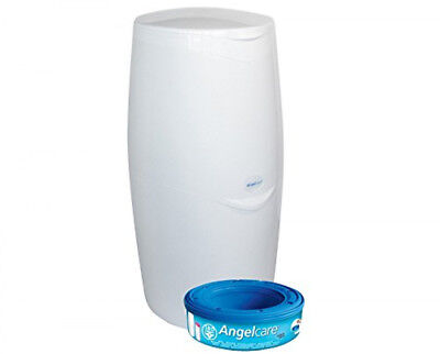 Angelcare Baby Nappy Diaper Disposal System Bin + 1 Free Refill Cassette