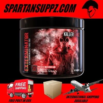 Killer Labz EXTERMINATOR Fat Burner 50 Serves DMPA High Energy Focus Oxyshred