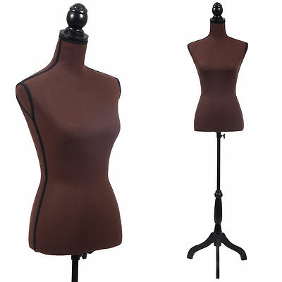 Female Mannequin Torso Wedding Clothing Display Stand New Coffee