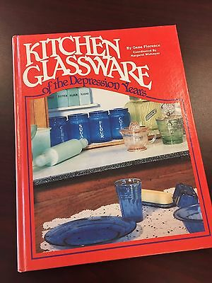 Kitchen Glassware Of Depression Years By Gene Florence Hardcover Book 1981