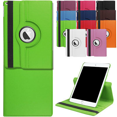360 ROTATING PU Leather Folio Case Cover Stand For Apple