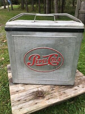 RARE vintage pepsi-cola cooler Early Aluminum Collectible NO RESERVE NICE ONE