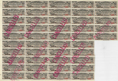 Big Four Railroad > CCC & StL Railway > 21 sheets of 45 bond coupons (945 total)