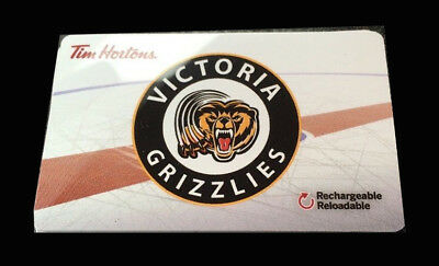 Tim Horton's Tim Gift Card Victoria Grizzlies, FD57104, NEW, Never used