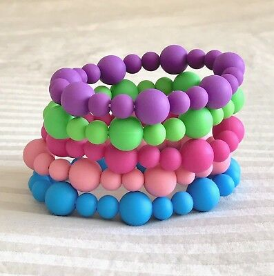 Silicone Bracelets Baby Safe Teether Breastfeeding Jewellery Chewable Beads