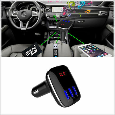Wireless Bluetooth Handsfree Car Kit FM Transmitter MP3 Player USB Charger Black