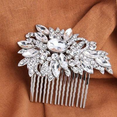 Clear Crystal Wedding Hair Comb Bridal Headpiece Art Deco Wedding accessories