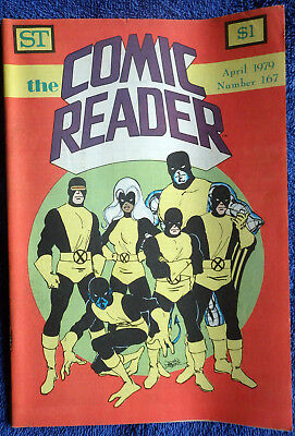The Comic Reader #167 - 1979 Newzine - Large format! X-Men cover!