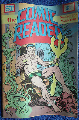 The Comic Reader #166 - 1979 Newzine - Large format! Sub-Mariner cover!