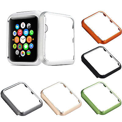 38mm Metal Apple Watch Case Protector Slim iWatch Protective Cover Bumper Rugged