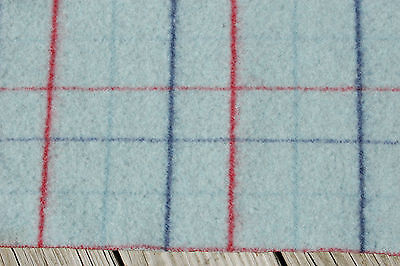 Felted Red Blue Plaid Wool Blanket Piece Primitive 16 x 27