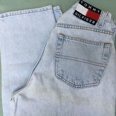 Vtg Womens Blue Denim Jeans Tommy Hilfiger Size 6 26X32 Classic Fit High Waisted