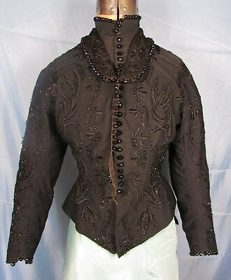 1880's Bodice With Beading And Elaborate Embroidery