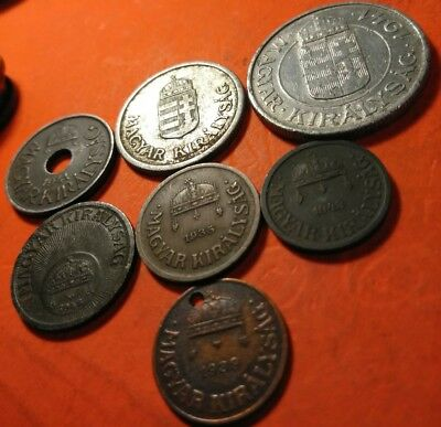 WW2 and early /hungary coin lot