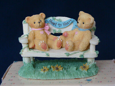 Cherished Teddies - Two Bears On Bench - Event Figurine - CRT240 - 1996