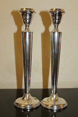 STERLING SILVER Art Deco Candle Sticks, High Quality Heavy Gauge Silver