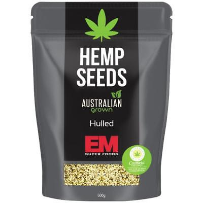 EM SUPERFOODS Hemp Seeds 500g - Hulled  Australian Grown