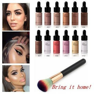 Beauty Lady Facial Makeup Contour Brightener Shimmer Highlighter Liquid Cosmetic