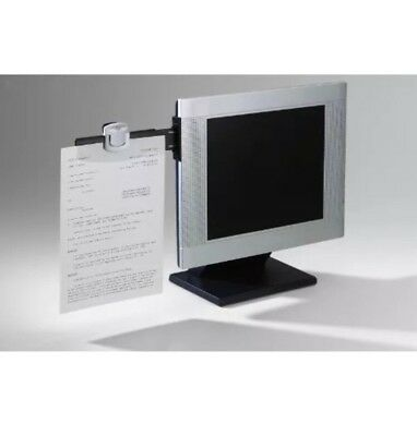 Computer Monitor Document Clip Paper Holder 30 Sheet Capacity