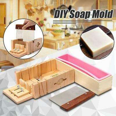 Adjustable Wooden Soap Cutter Mold/Making Tools+1xSilicon Mold+1x304 Soap Cutter