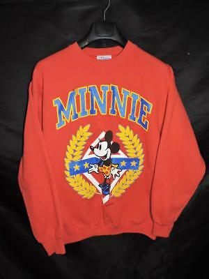 Vintage 80s M Red Minnie Mouse Disney Sweatshirt Oversized Shirt Yellow Blue m L