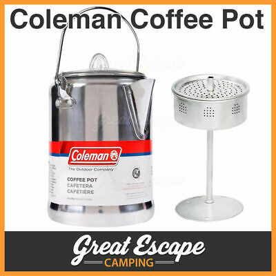 Coleman Aluminum Percolator Coffee Pot 9 Cups Kettle