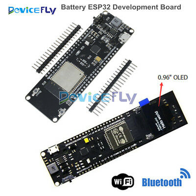 ESP32 WiFi Bluetooth 18650 Battery+0.96 inch OLED Development CP2102 Board