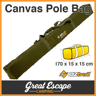 OZtrail Canvas Steel Pole Bag. Suits Tent Poles, Ridge Poles, Spreader Bars